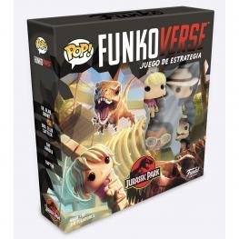 Juego Mesa Pop Funkoverse Jurassic Park 4Fig Español