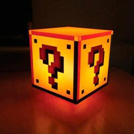 Lampara Question Block Super Mario Bros Nintendo