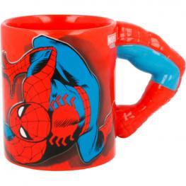 Taza 3D Brazo Spiderman Marvel