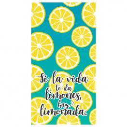 Toalla Si la Vida Te Da Limones Haz Limonada Microfibra