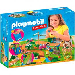 Play Map Paseo Con Ponis Playmobil