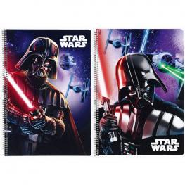 Libreta Star Wars Saga Disney A4 Tapas Duras 80H Surtido