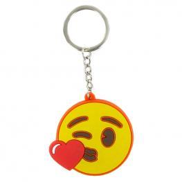 Llavero Emoji Cara Corazon