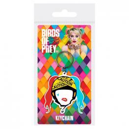 Llavero Harley Quinn Caution Birds Of Prey Dc Comics