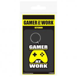 Llavero Rubber Gamer At Work Gaming