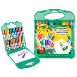 Maletin Rotuladores Lavables Crayola 65Pzs