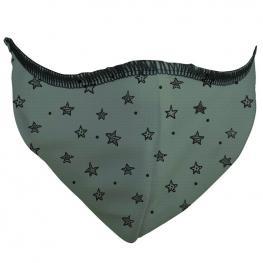 Mascarilla Antibacteriana Stars Verde L