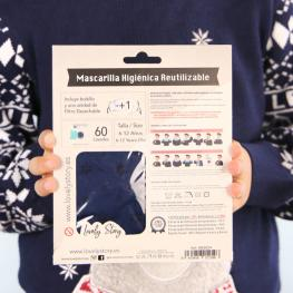Mascarilla Higienica Reutilizable Navidad Osos Infantil