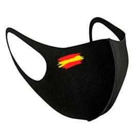 Mascarilla Reutilizable Negra Bandera Derecha L