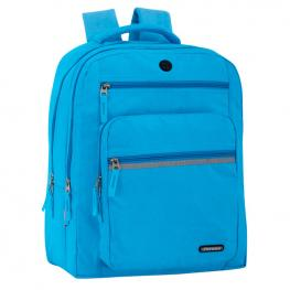 Mochila Doble Ordenador Perona Friday Azul 44Cm Adaptable
