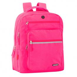 Mochila Doble Ordenador Perona Friday Fucsia 44Cm Adaptable
