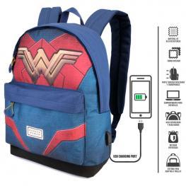 Mochila Wonder Woman Dc Comics Adaptable 42Cm