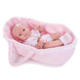 Muñeca Baby Recien Nacida Cuna 37Cm