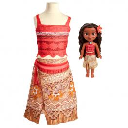 Muñeca Moana + Disfraz Vaiana Disney