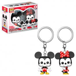 Pack Llaveros Pocket Pop Disney Mickey & Minnie