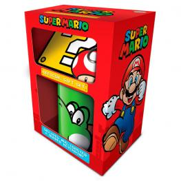 Pack Regalo Taza Llavero Super Mario Nintendo
