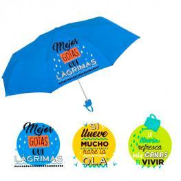 Paraguas Plegable Baggy Frases