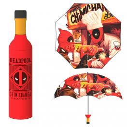 Paraguas Plegable Botella Chimichanga Deadpool Marvel