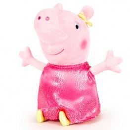Peluche Peppa Pig Shine & Cakes Soft Fucsia 40Cm