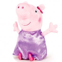 Peluche Peppa Pig Shine & Cakes Soft Morado 40Cm