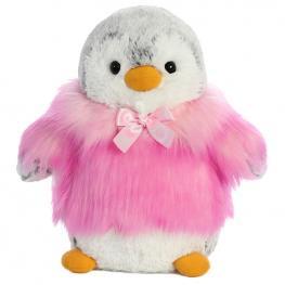 Peluche Pinguino Pompon Rosa Soft 23Cm
