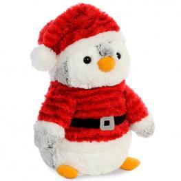 Peluche Pinguino Pompon Santa Soft 28Cm