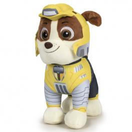 Peluche Rubble Patrulla Canina Paw Patrol Mighty Soft 37Cm