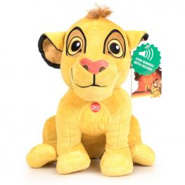 Peluche Simba el Rey Leon Disney Soft Sonido 30Cm