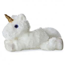 Peluche Unicornio Blanco Mini Flopsies Soft 21Cm