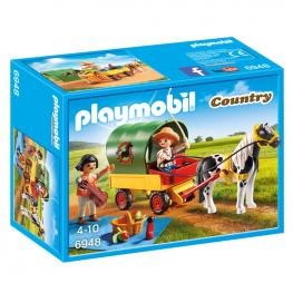 Picnic Con Poni y Carro Playmobil Country