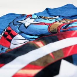 Poncho Toalla Capitan America Vengadores Avengers Marvel Algodon