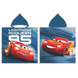 Poncho Toalla Cars Disney Microfibra