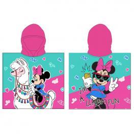 Poncho Toalla Llama Minnie Disney