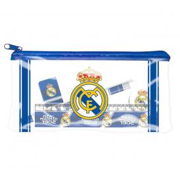 Portatodo Real Madrid + Set Papeleria 4Pcs