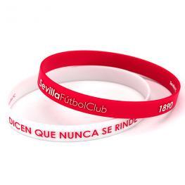 Pulsera Embossed Sevilla Fc Rojo Blanco