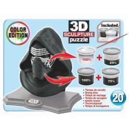Puzzle 3D Kylo Ren Star Wars Color Edition