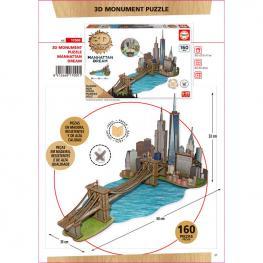 Puzzle 3D Monumento Manhattan Dream Madera 160Pz