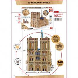 Puzzle 3D Monumento Notre-Dame Madera 148Pz