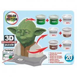 Puzzle 3D Yoda Star Wars Color Edition