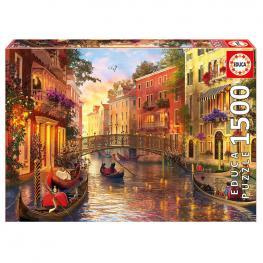 Puzzle Atardecer En Venecia 1500Pz