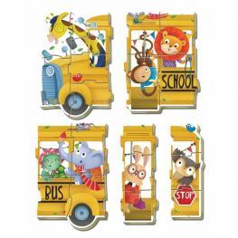Puzzle Baby School Bus Animals