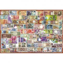 Puzzle Billetes del Mundo 1000Pz