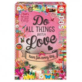 Puzzle Do All Things With Love 500Pz