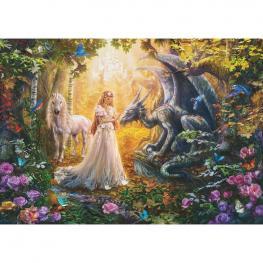 Puzzle Dragon Princesa y Unicornio 1500Pz