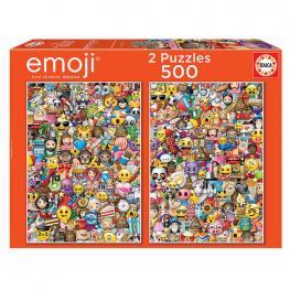 Puzzle Emoji 2X500Pz