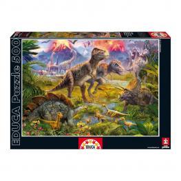 Puzzle Encuentro de Dinosaurios 500Pz