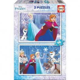 Puzzle Frozen Disney 2X48Pz