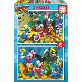 Puzzle Mickey And The Roadster Racers Disney 2X20Pz