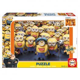 Puzzle Minions Madera 100Pz