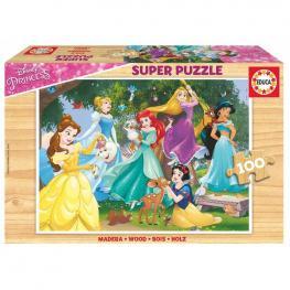 Puzzle Princesas Disney Madera 100Pz